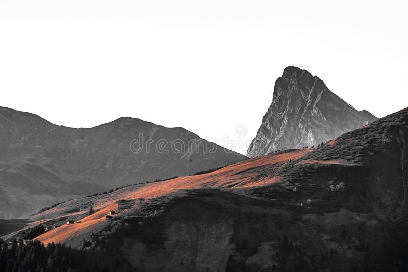 Swiss mountain view royalty free stock images