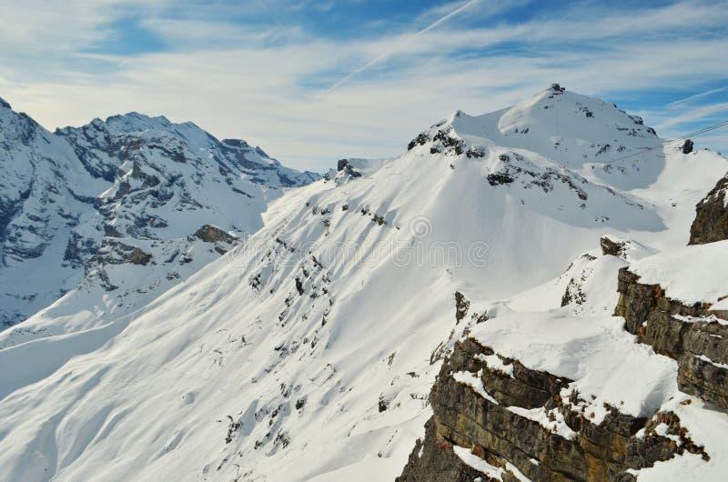 Swiss Mountains Schilthorn stock image