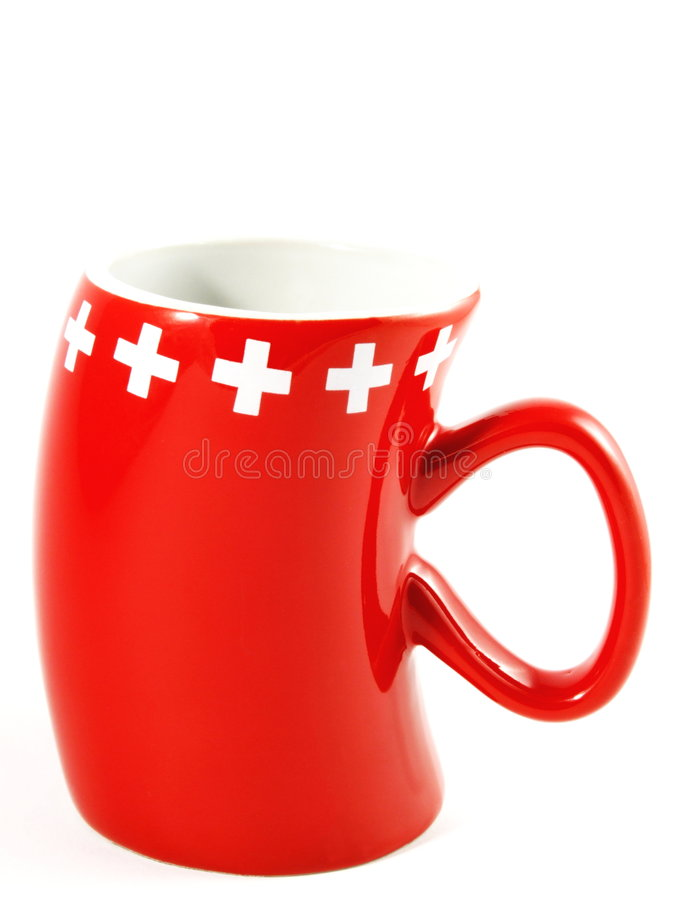Swiss Mug stock image