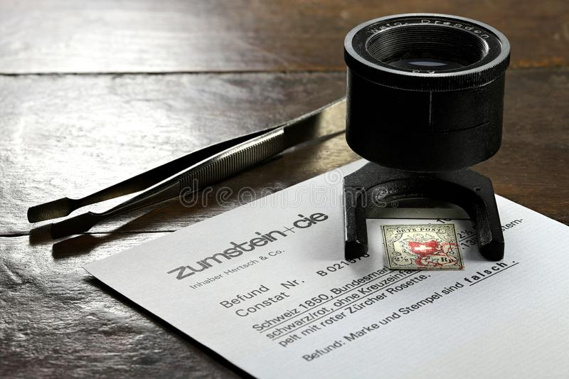 Swiss Orts-Post stamp royalty free stock image