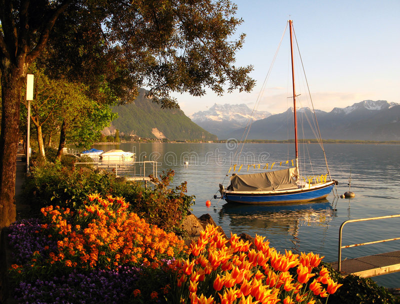 Swiss Riviera stock photography