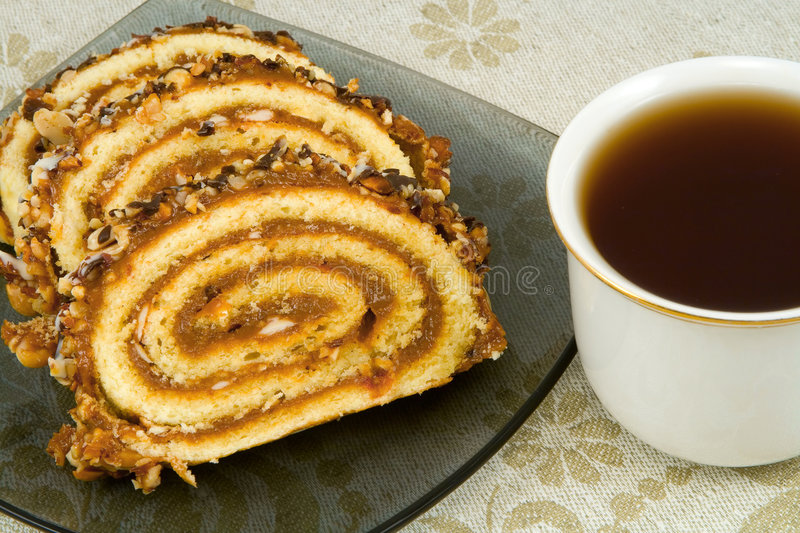 Download Swiss roll stock photo. Image of gourmet, teacup, chocolate - 2290330