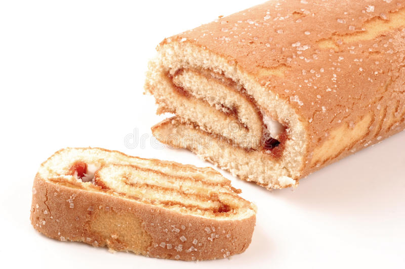 Swiss roll cake stock images