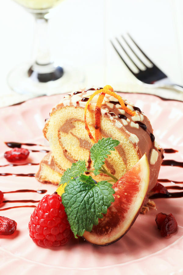 Swiss roll stock images