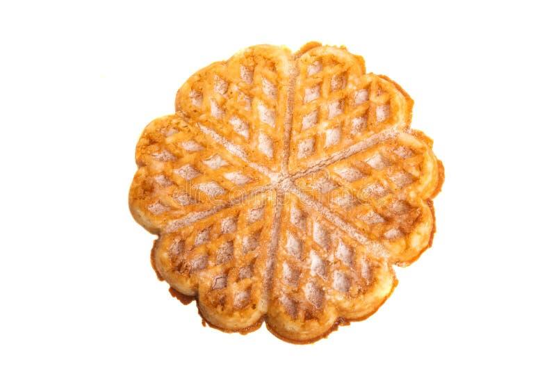 Swiss waffles isolated. On white background royalty free stock photography
