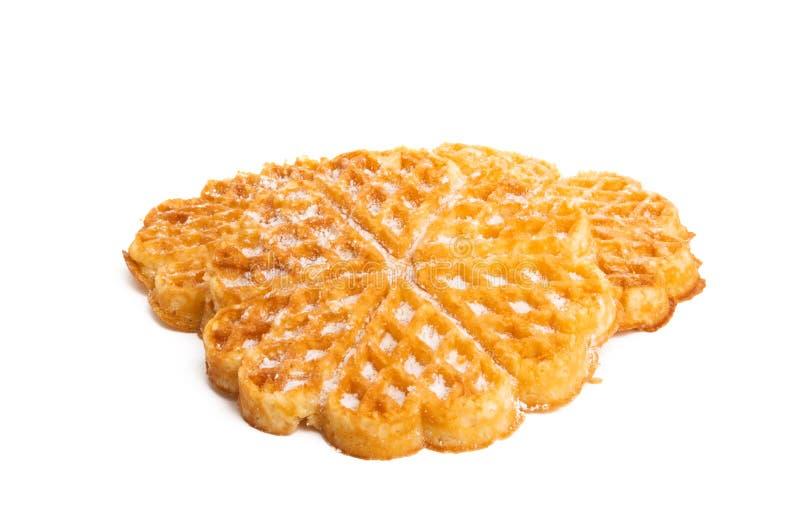 Swiss waffles isolated. On white background royalty free stock image