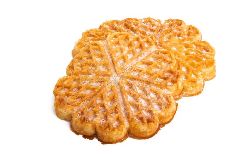 Swiss waffles isolated. On white background stock photos