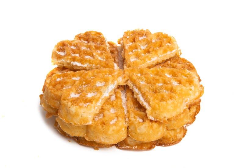 Swiss waffles isolated. On white background royalty free stock photo