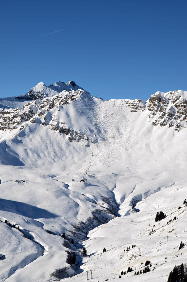 Download Swiss wall stock photo. Image of mountain, winter, white - 25016796