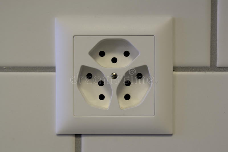 Swiss wall outlet stock image. Image of voltage, plug - 63254791