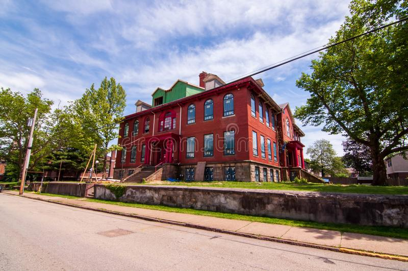 Swissvale, Pennsylvania, USA 6/8/2019 The former Denniston Elementary School on McClure Avenue stock photo