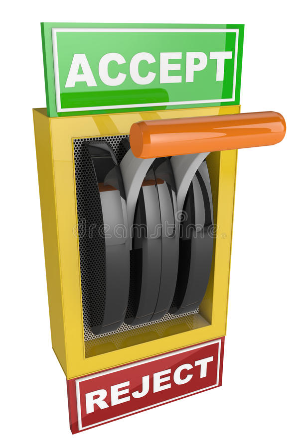 Switch Accept and Reject stock illustration