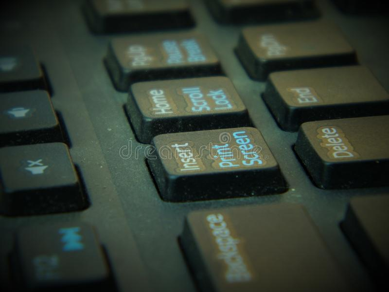 Switch of computer keyboard royalty free stock photos