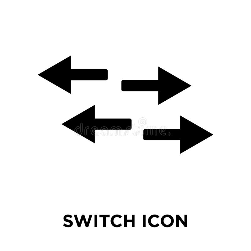 Switch icon vector isolated on white background, logo concept of vector illustration