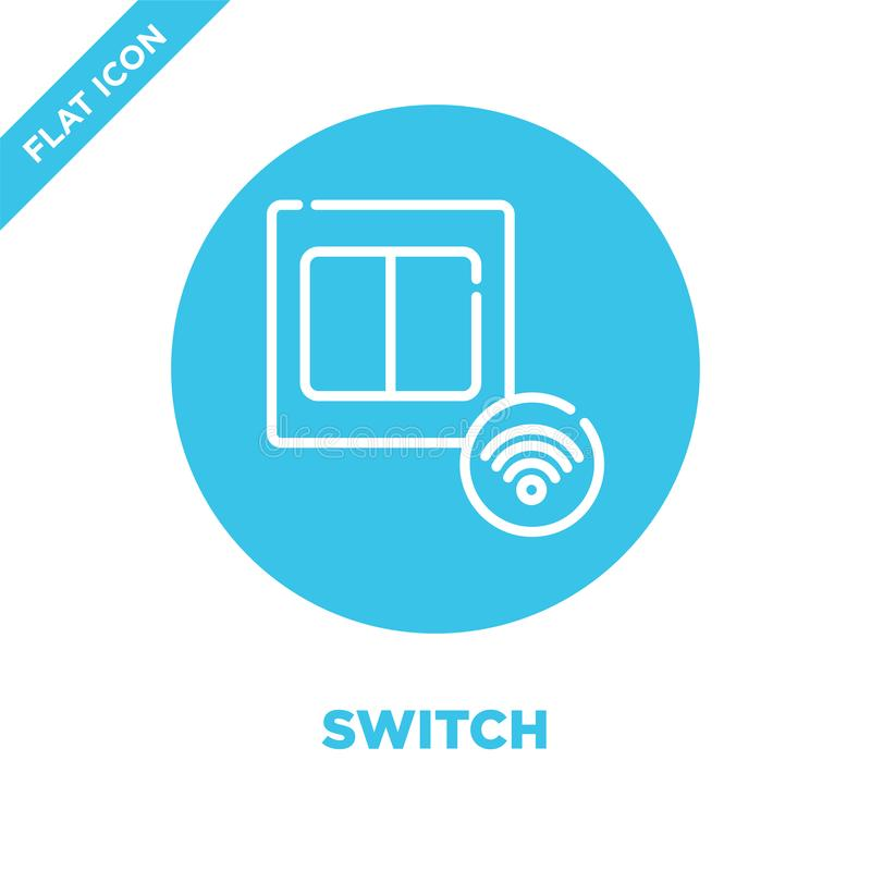switch icon vector from smart home collection. Thin line switch outline icon vector  illustration. Linear symbol for use on web royalty free illustration