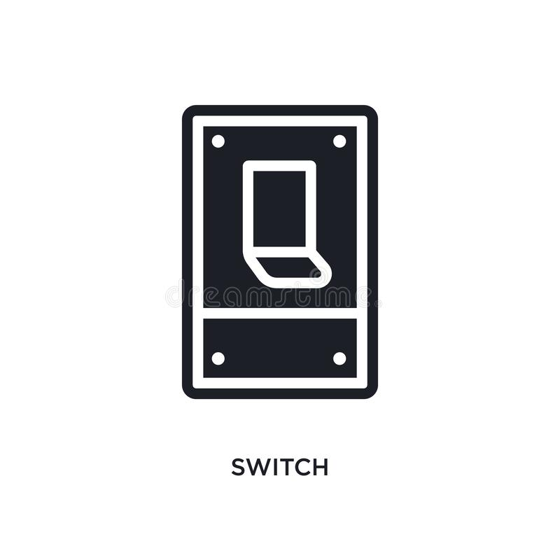 switch isolated icon. simple element illustration from electrian connections concept icons. switch editable logo sign symbol vector illustration