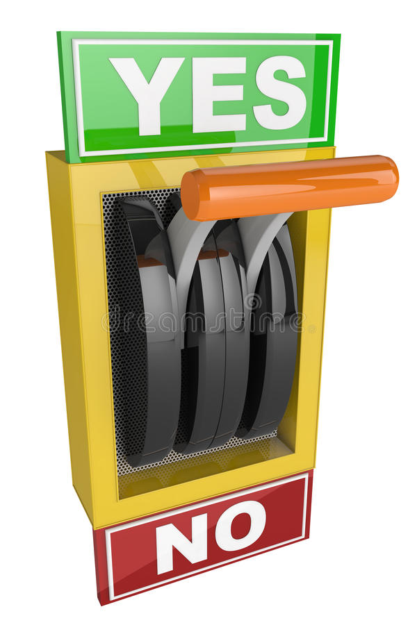 Switch lever Yes and No stock illustration