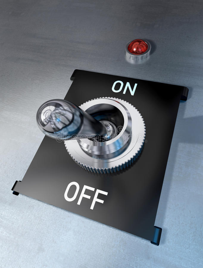 Switch off royalty free stock photography