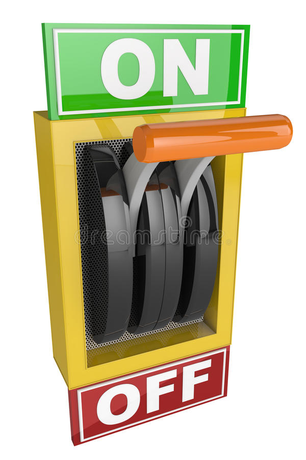 Switch On and Off vector illustration