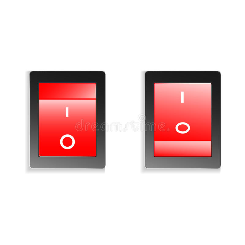 Switch on off royalty free illustration