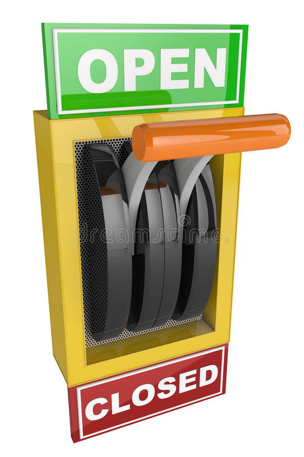 Switch Open and Closed royalty free illustration