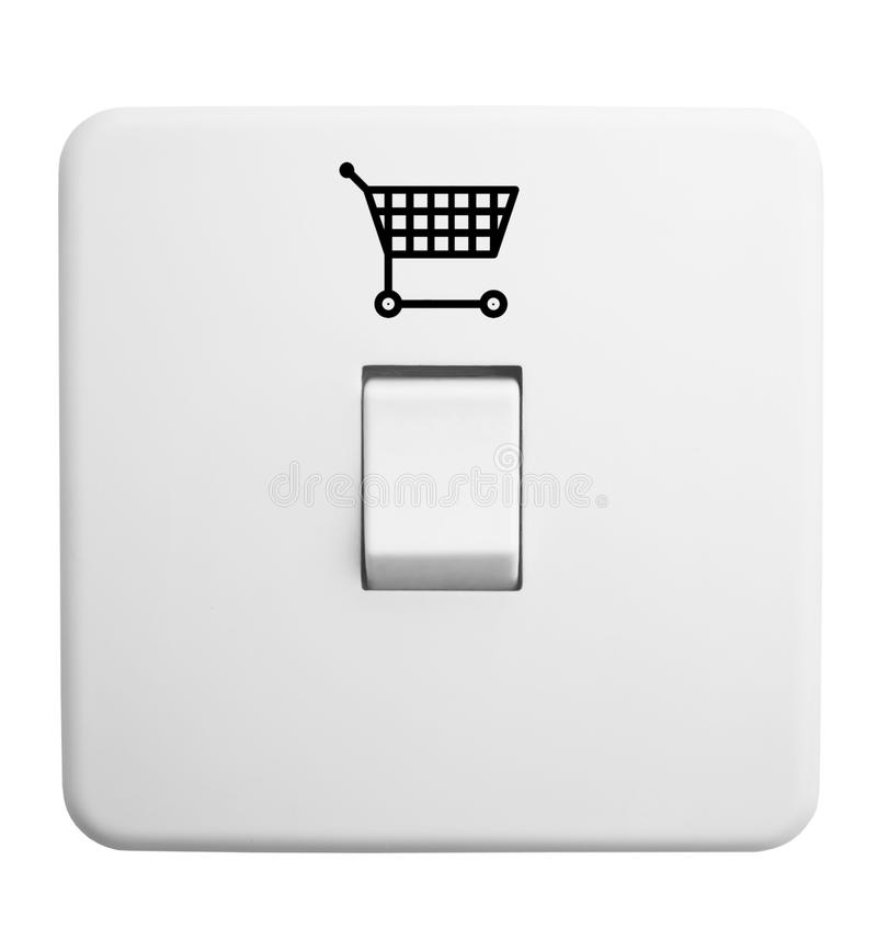 Download Switch With Shopping Trolley Symbol Stock Illustration - Image: 13340578
