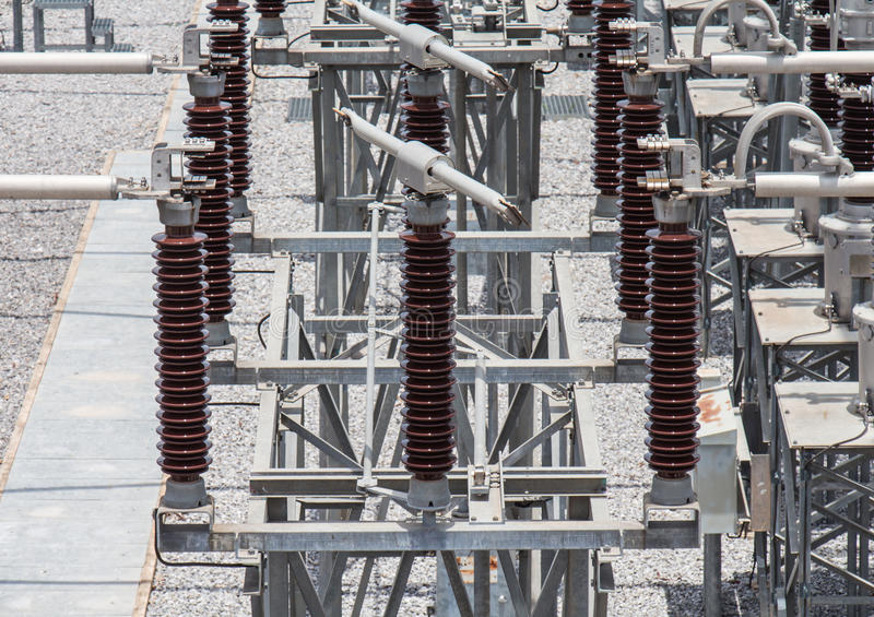 Switch in sub station royalty free stock photos