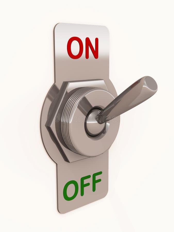 Switch turn on vector illustration
