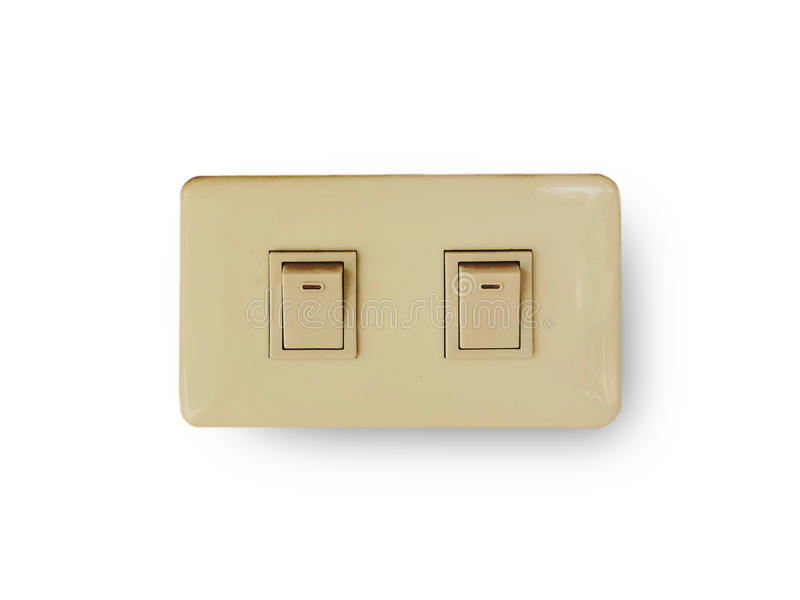 Switch turn off the lights. In the home royalty free stock photo
