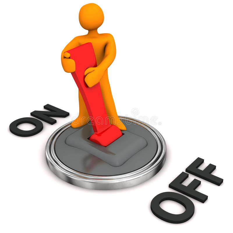 Download Switched On stock illustration. Image of over, business - 27722704