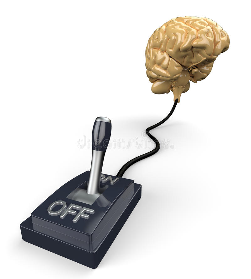 Download Switched on human brain stock image. Image of brain, illustration - 32100257