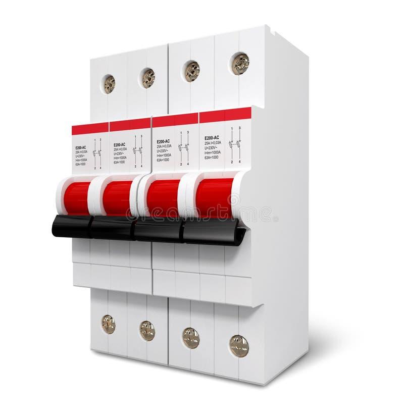 switcher automatyczne energii elektrycznej ilustracja wektor