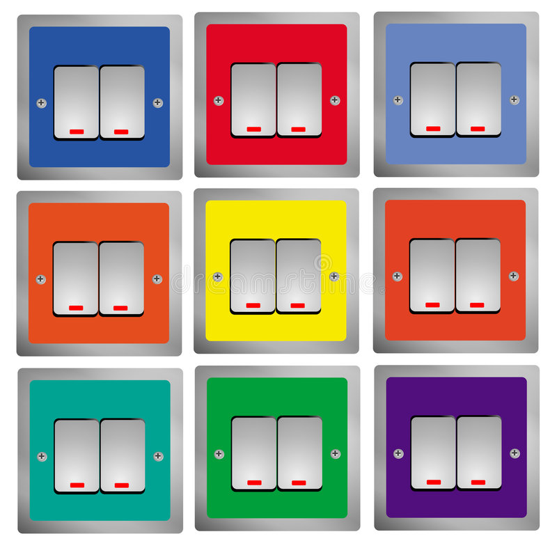 Download Switches  Control stock illustration. Illustration of mixed - 7485458
