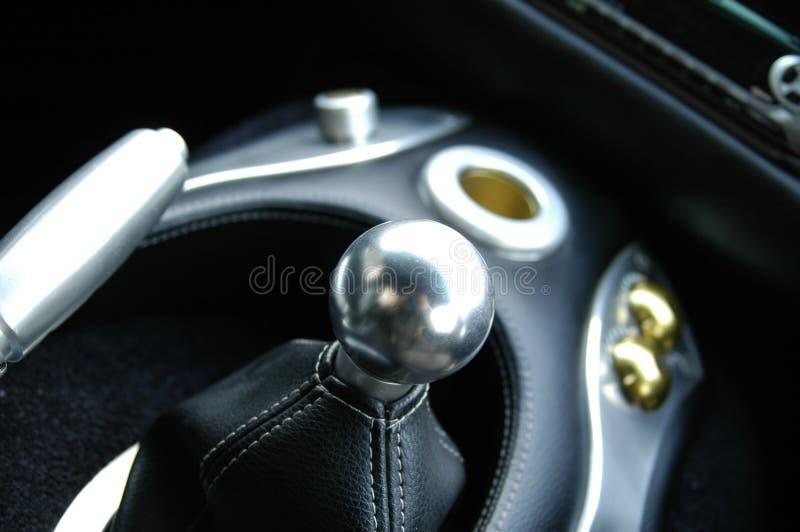 Switchgear do carro de esportes fotos de stock royalty free
