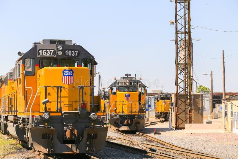 Switchyard in Kansas City stockbilder
