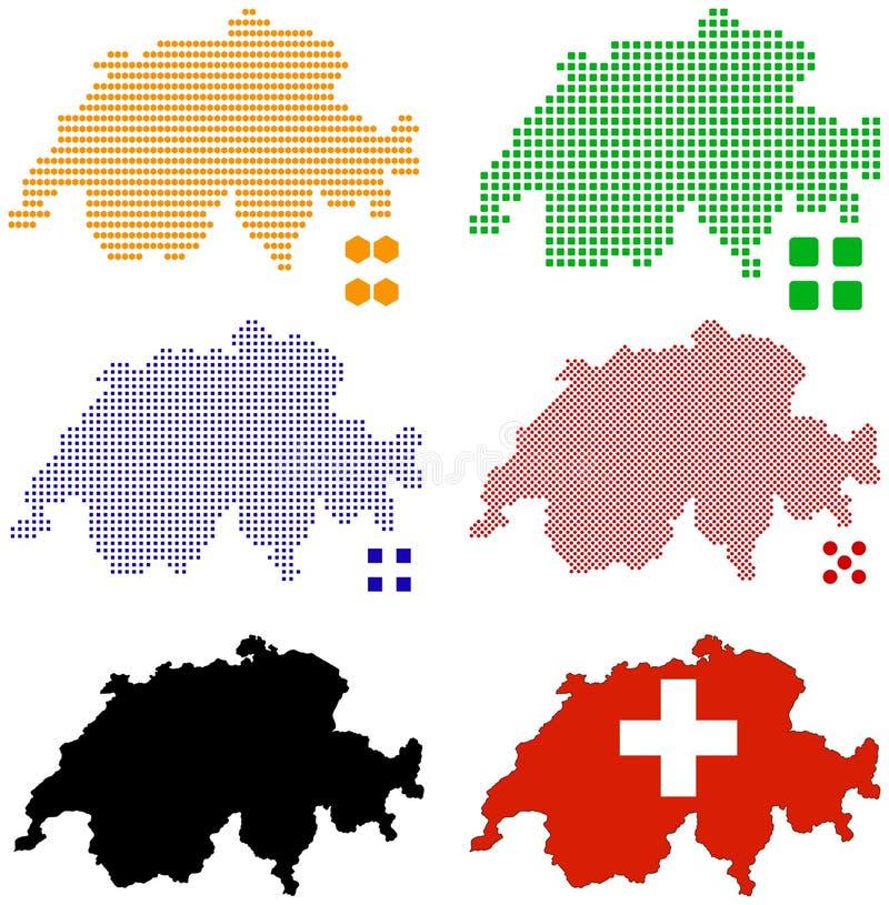 switzerland stock illustrationer