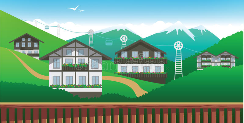 Download Switzerland stock vector. Image of exterior, landscape - 14899552