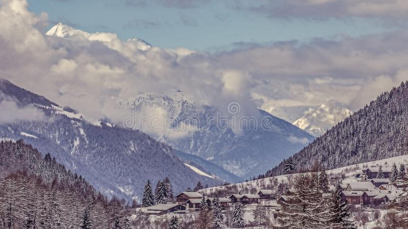 Switzerland Alps landscape royalty free stock photo