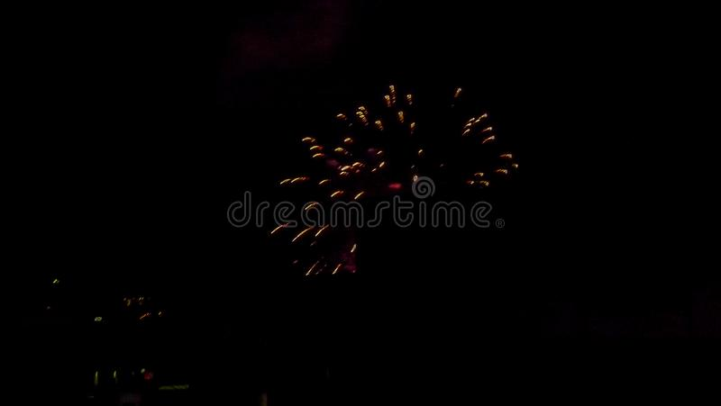 Switzerland, Basel, LOW ANGLE VIEW OF FIREWORK DISPLAY AT NIGHT stock image