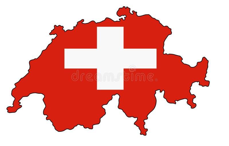 switzerland Carte d'illustration de vecteur de la Suisse illustration de vecteur