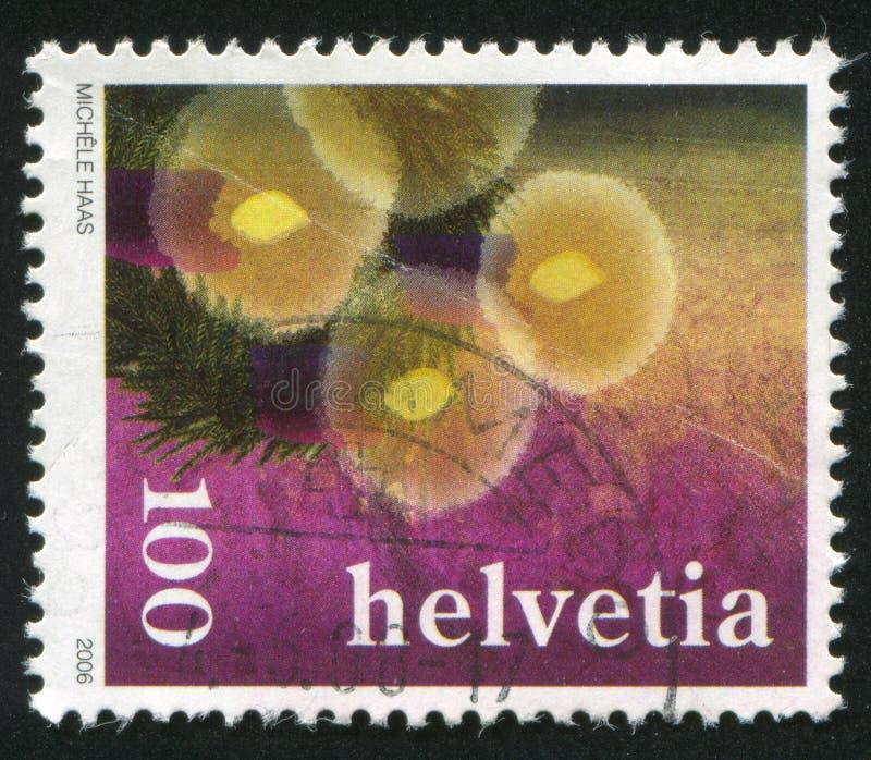 Advent wreath. SWITZERLAND - CIRCA 2006: stamp printed by Switzerland, shows Advent wreath, circa 2006 stock image