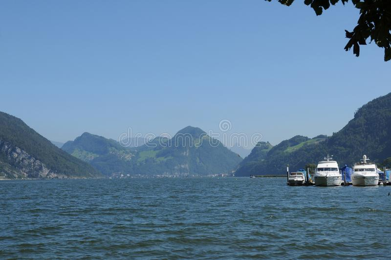 Switzerland: A cruise on Lake Lucerne is one of the most popular trips for foreign tourists stock image