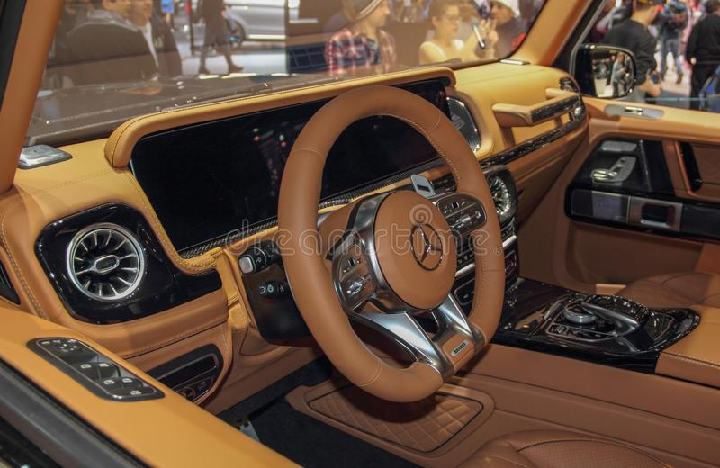 Switzerland; Geneva; March 9, 2019; Brabus 800, Mercedes-AMG G63; The 89th International Motor Show in Geneva from 7th to 17th of. March, 2019 royalty free stock images