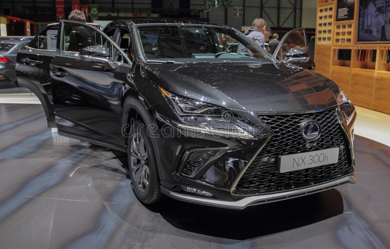 Switzerland; Geneva; March 9, 2019; Lexus NX 300h; The 89th International Motor Show in Geneva from 7th to 17th of March, 2019 royalty free stock photo