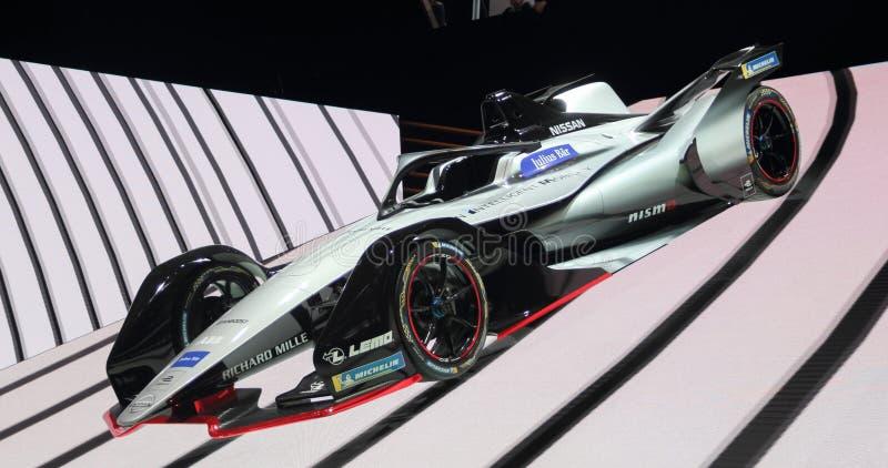 Switzerland; Geneva; March 8, 2018; The Nissan Formula E racing royalty free stock photo