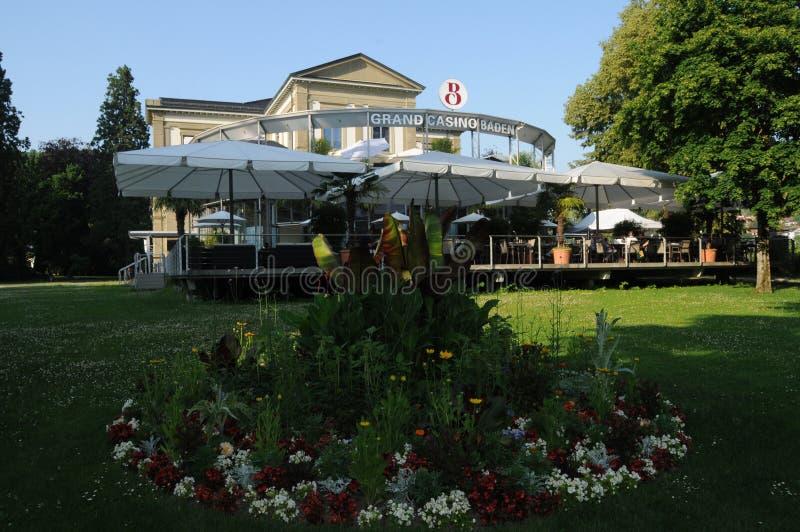Switzerland: The Grand Casino of Baden City in canton Aargau stock images