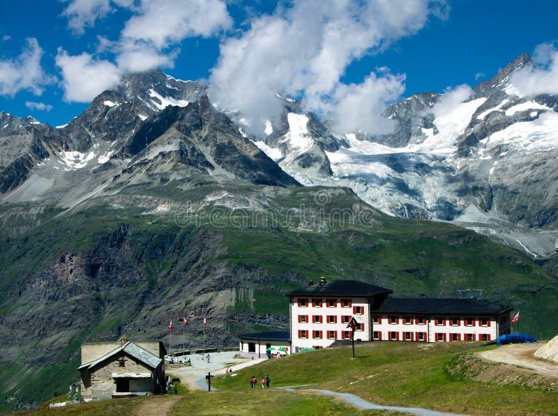 Switzerland mountain resort stock images