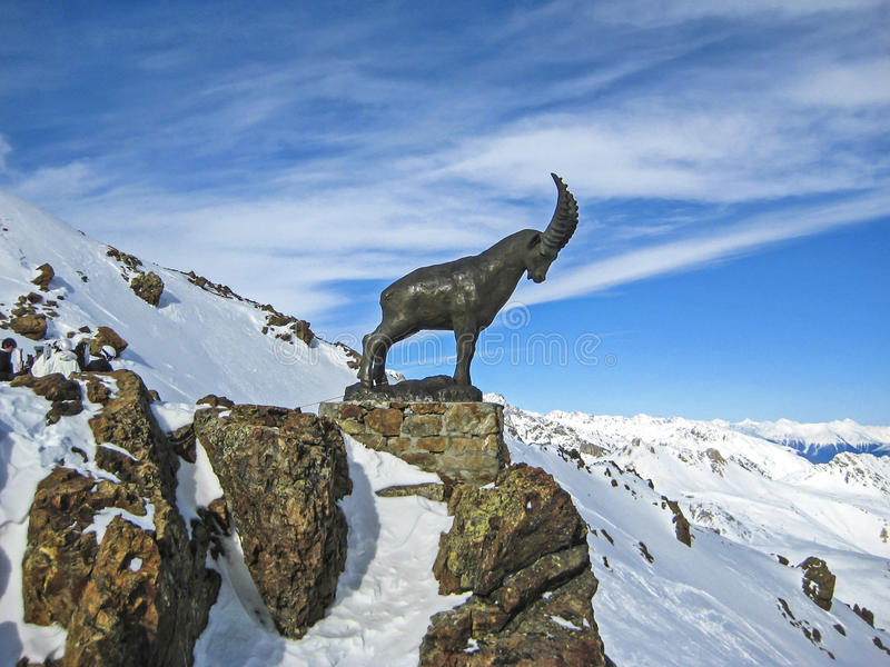 Switzerland Mountain Top Capricorn Symbol. Capricorn – Swiss symbol for a region royalty free stock photo