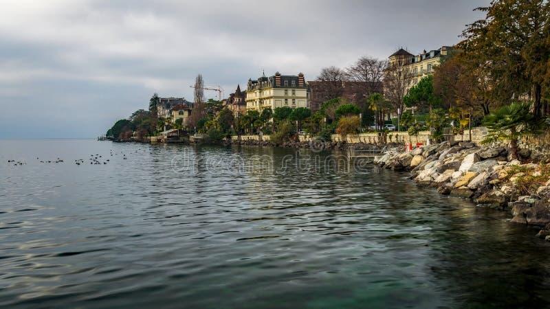 Switzerland - Riviera Shot on Lake Geneva - Montreux. Switzerland stock images