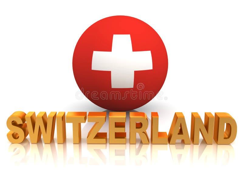 switzerland symbol royaltyfri illustrationer